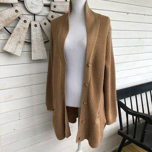 BLAIR Oversized Chunky Knit Camel Sweater